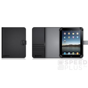 Griffin Elan Passport fekete bőr tok Apple iPad 2/New