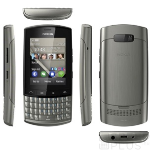 Nokia Asha 303 Touch and Type, Graphite