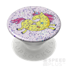 Popsockets telefontartó, Glitter Jumping Unicorn Yellow