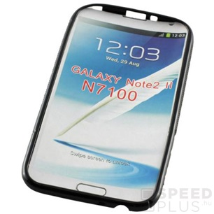 Samsung GT-N7100 Galaxy Note 2 S-Curve fekete szilikon tok