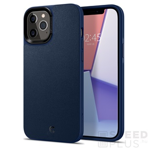 Spigen Ciel Cyrill Apple iPhone 12 Pro Max Leather Brick Navy tok, kék