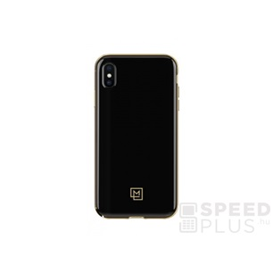 Spigen La Manon Apple iPhone XR Gold Black tok, fekete