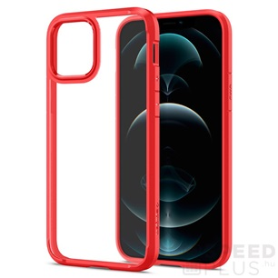 Spigen Ultra Hybrid Apple iPhone 12/12 Pro Red tok, piros